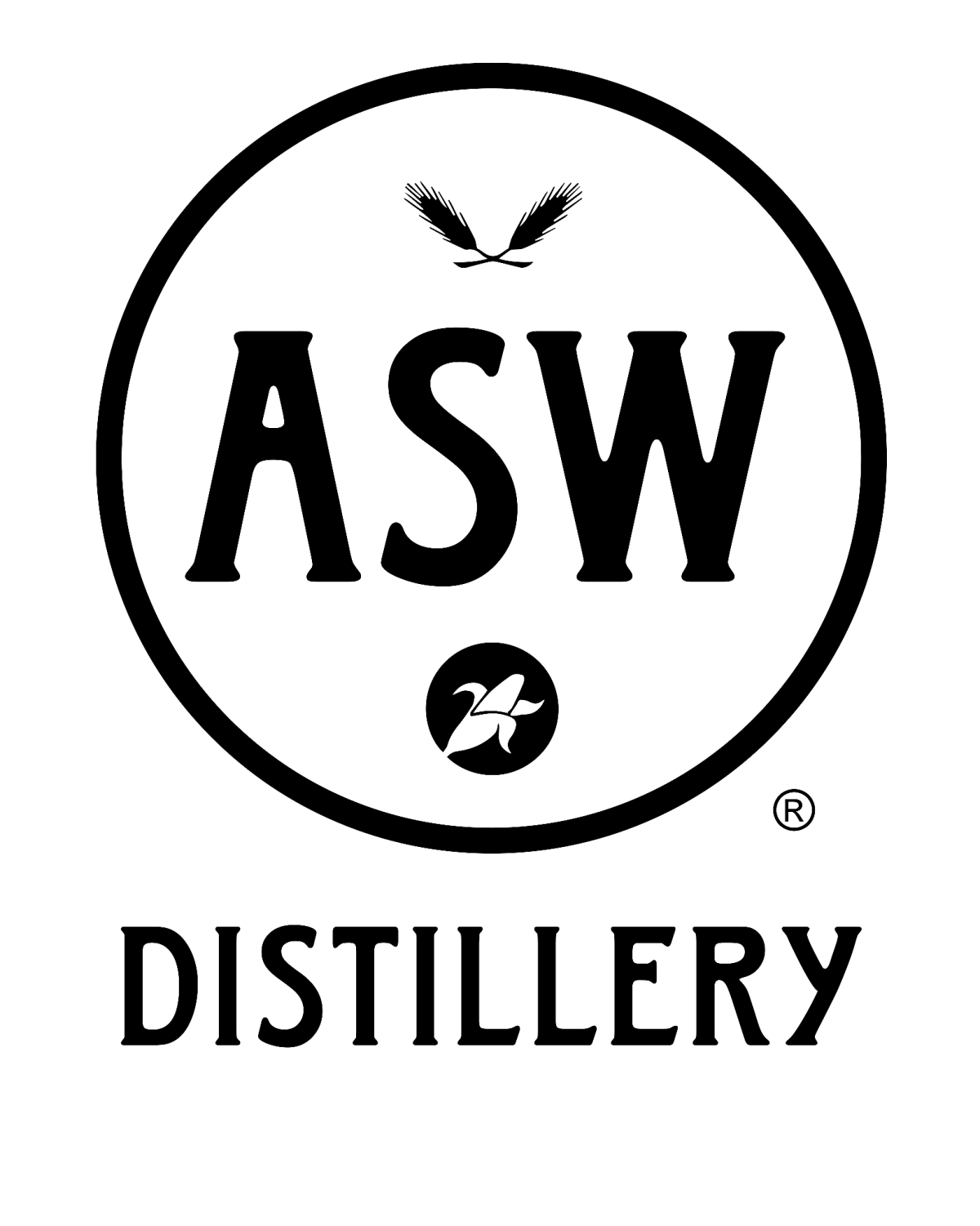 ASW Distillery Logo - black on white