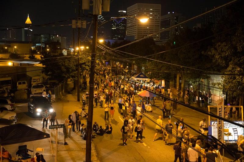A very busy Walker Street. Photo courtesy of John E. Ramspott.