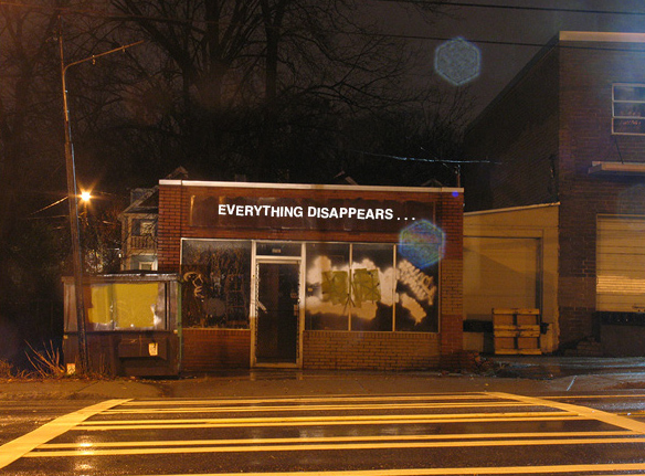 Karen Tauches, Everything Disappears ..., 2012, for Living Walls.
