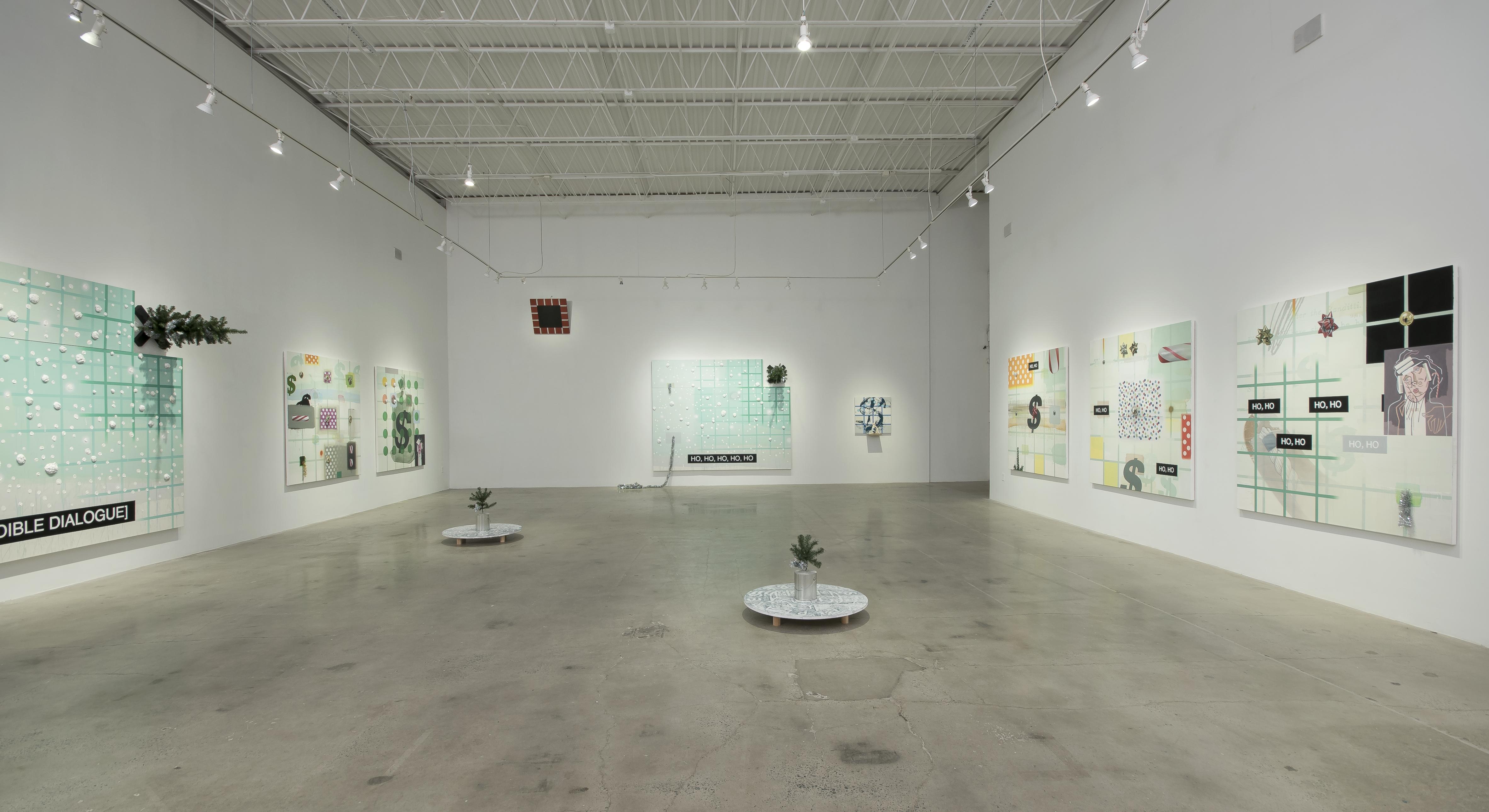 """Installation view of """"Bandit,"""" Craig Drennen's exhibition on view at MOCA GA through Jan. 27."""