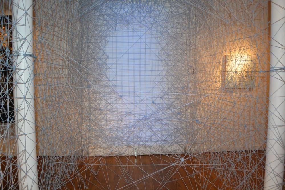 Sabre Esler's string installation. (Photo: Chastain Arts Center)